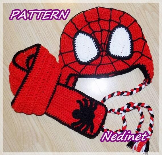 Crochet Pattern Spiderman Hat Pattern Crochet Hat Pattern