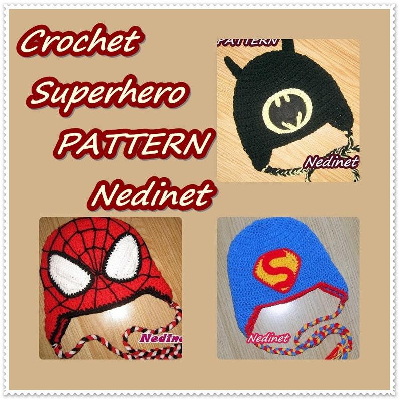 Spiderman Costume Crochet Hat Pattern Spiderman Hat Batman  737e9dc80db