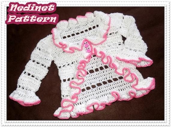 Crochet Baby Cardigan Pattern Crochet Pattern Crochet Etsy