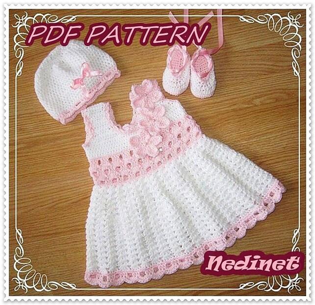 Crochet Pattern Crochet Baby Dress Pattern Crochet Baby Etsy