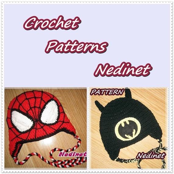 Crochet Superhero Hat Pattern Crochet Hat Pattern Spiderman Hat