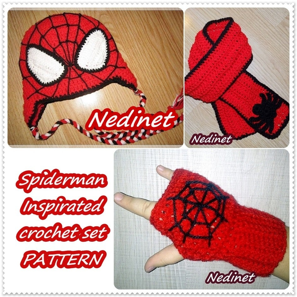 Spiderman Crochet Hat Crochet Pattern Spiderman Hat Etsy