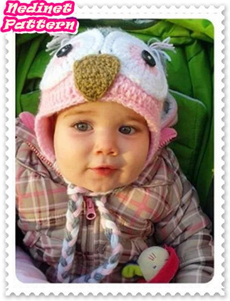 96c1327f1e72 Owl Hat Crochet Pattern Owl Hat Pattern Girl Crochet Hat