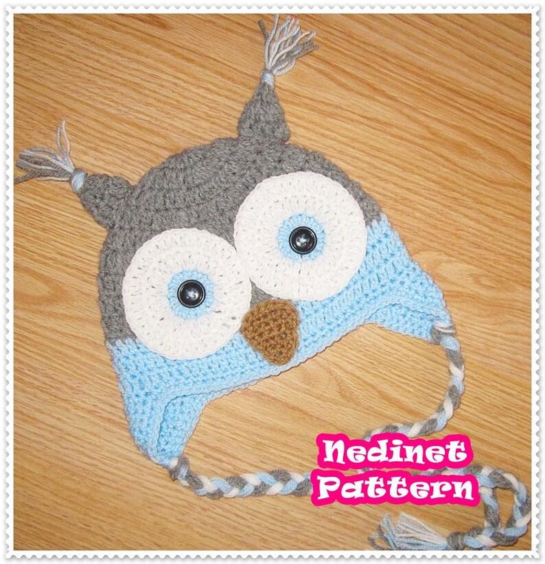 b91c68990c20a Owl crochet hat pattern crochet pattern crochet hat pattern
