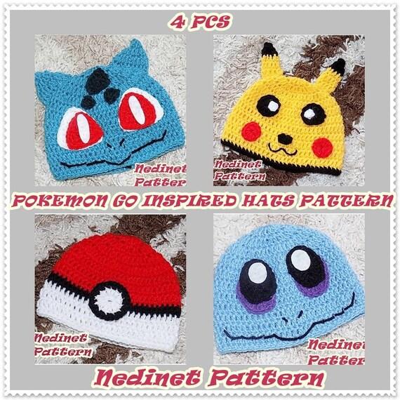 Crochet Pattern Pokemon Crochet Hat Pattern Pokemon Etsy