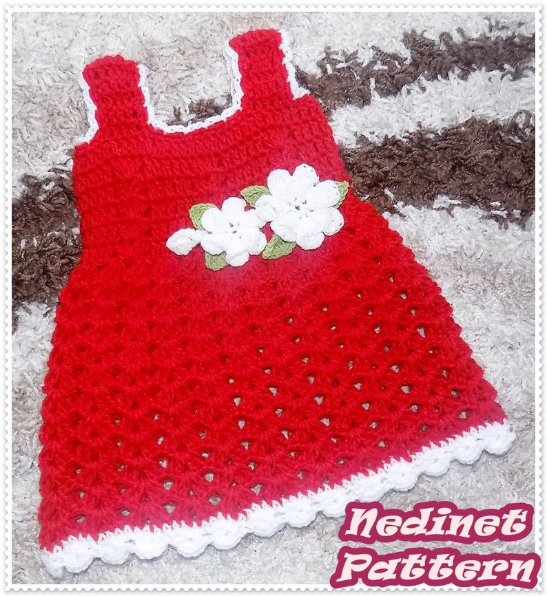 bc97fc1d4 Crochet Baby Dress Pattern Crochet Baby Dress Free Crochet