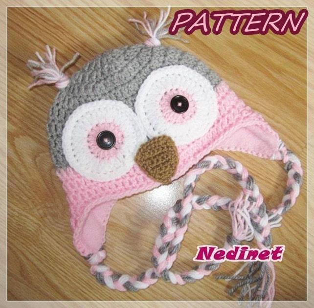 Owl Hat Crochet Pattern Crochet Owl Hat Baby Owl Hat Etsy
