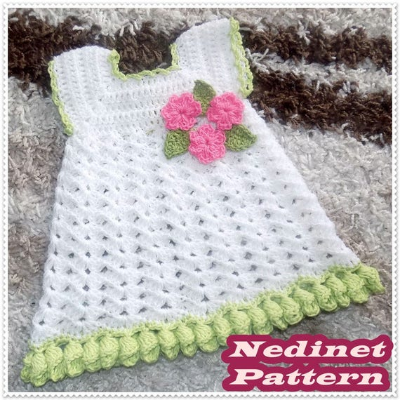Crochet Pattern Crochet Dress Pattern Crochet Dress Baby Etsy