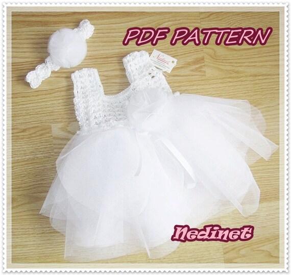 Crochet Pattern Crochet baby dress pattern crochet tulle | Etsy