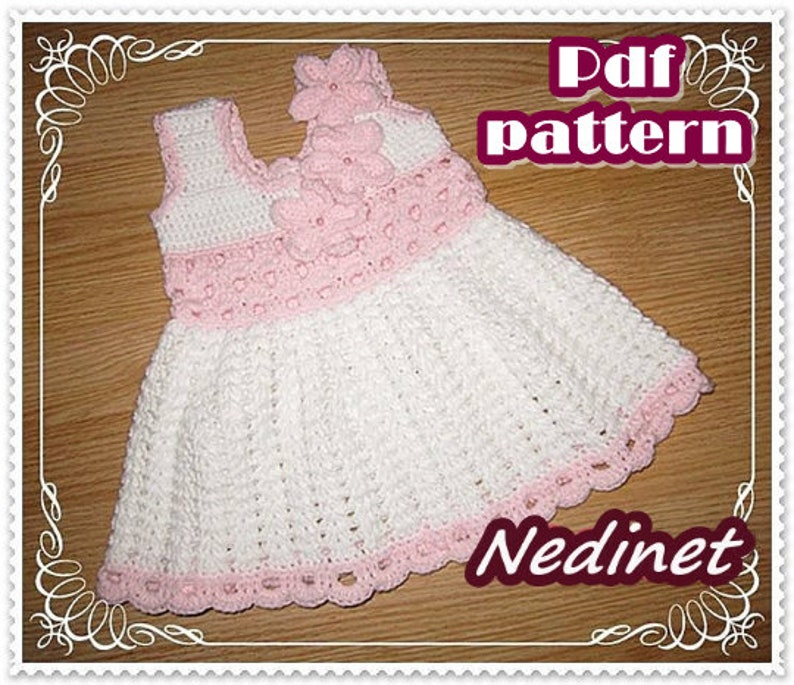 Crochet Baby Dress Pattern Baby Dress Pattern Newborn Girl Etsy
