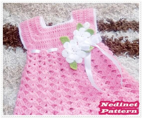 Crochet Pattern, Crochet Baby Dress Pattern, Crochet Dress, Baby ...