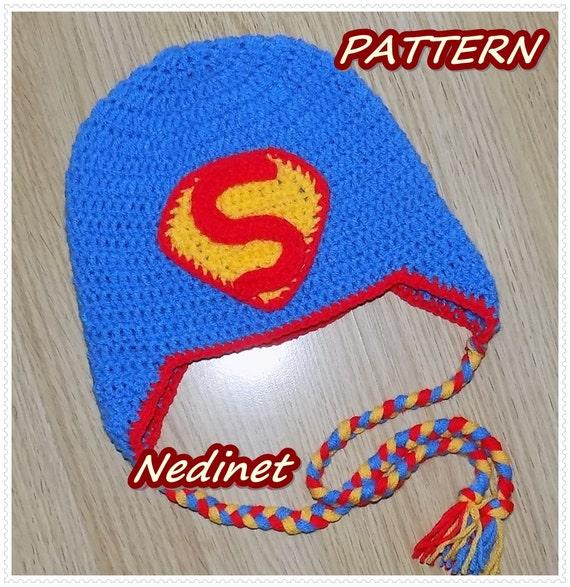 Crochet Pattern Superman Crochet Hat Crochet Pattern Baby Etsy