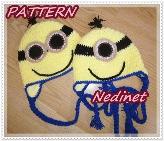 Crochet Hat pattern, Crochet Minions Hat Pattern, Boy Hat Pattern ...