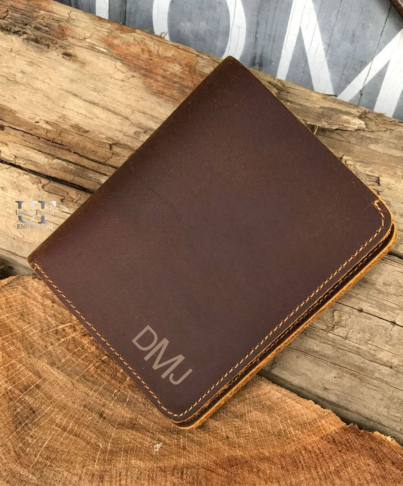 bac5691b476318 Personalized Leather Mens Leather wallet Cowhide leather   Etsy