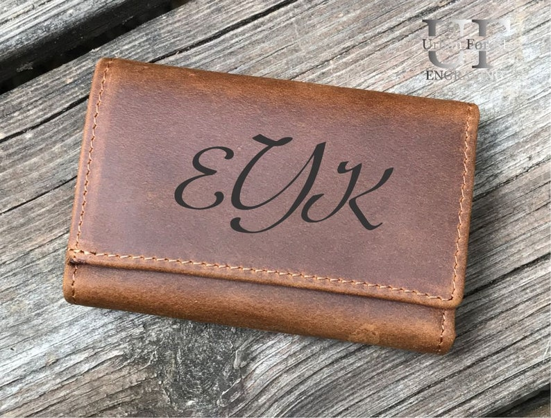 Personalized Key Chain Holder Wife gift Key Chain Leather wallet Key Holder Coin Purse Key Ring Card Holder Grandpa gift for Grandma