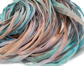 """5PC. REFLECTION 2MM Hand Dyed Silk Jewelry Cord//5PC Hand Dyed Silk Cording 1/8"""" X 36""""//Hand Dyed Silk Jewelry Bracelet/Necklace Cording"""