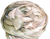 10YD. PINK SANDS Sari Silk Ribbon Ombre dyed junk Journal Sari Silk Binding, Sari Tassel, Sari Wall Decor, Sari Dream Catcher Streamers
