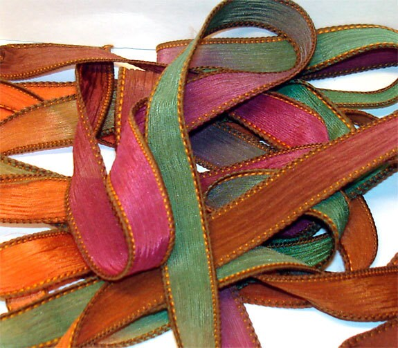 5pc. corne d abondance à la main rubans teint de soie poignet enrouler les c42cef1cbfb7
