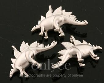 20 Dinosaur Connector Charms \u2022 Stainless Steel Dinosaur Charms \u2022 Brontosaurus \u2022\u00a0Pterodactyl \u2022 Apatosaurus \u2022 Pterosaur \u2022 Silver Dino