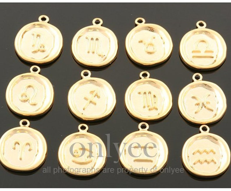 K1428S-J 2pcs10pcs-14mmX17mm Bright Rhodium plated Brass Zodiac Sign with medallion Coin charm,pendant,Jewelry supply,connector,Scorpio
