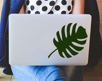 Plant Mom gift, Monstera Leaf Vinyl Decal Sticker, Palm Leaf Stickers, Tropical Leaf Vinyl Decals, Laptop Decal, Gardener gift, Florist Gift