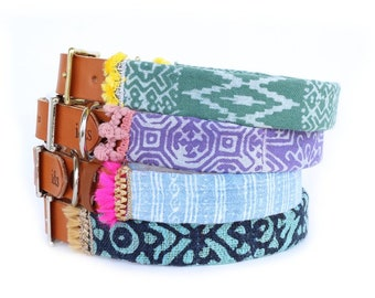 Dog Collar with Textile Sleeve   Holiday Collection '18   Optional ID Tag