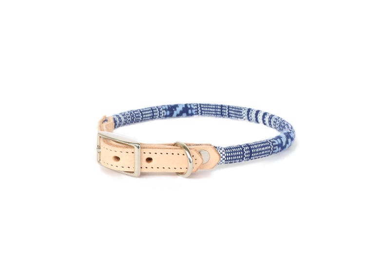 Cat Collar or Small Dog Collar  Indigo image 0