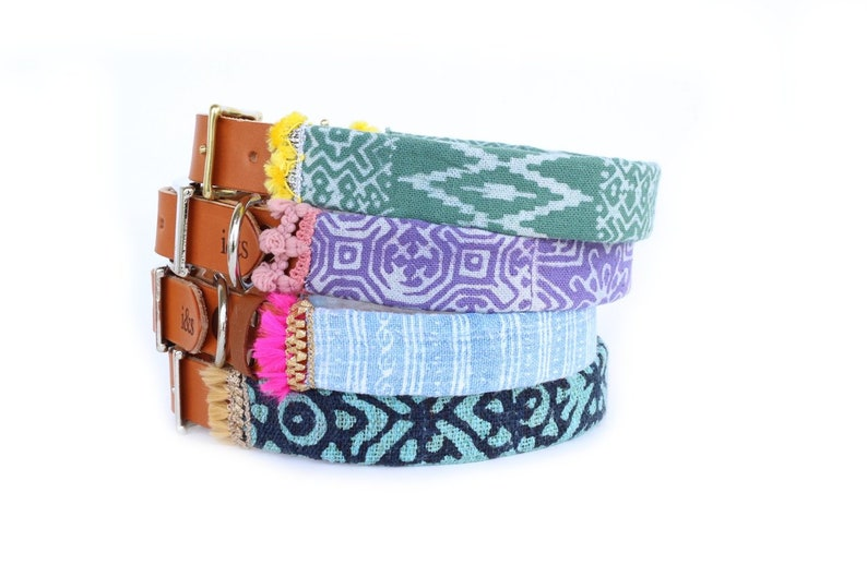 Dog Collar with Textile Sleeve  Holiday Collection '18  image 0