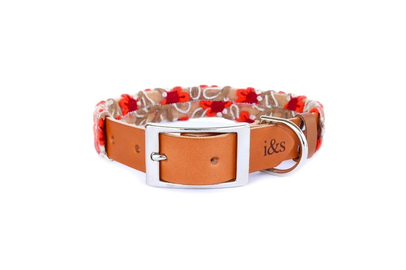 Dog Collar with Textile Sleeve  Scarlett Fleur  Optional ID image 0