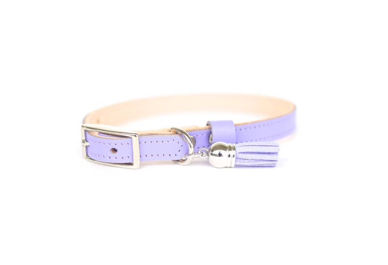 Cat or Small Dog Collar // Lavender // Optional ID Tag image 0