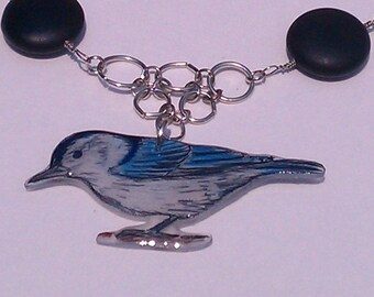 White-Breasted Nuthatch Necklace