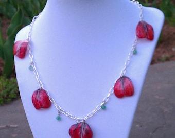 Tulip Petal Necklace