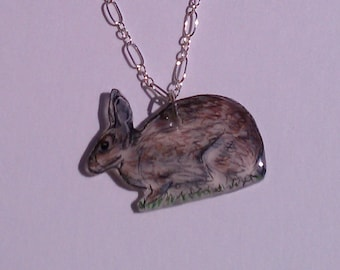 Eastern Cottontail Rabbit Necklace