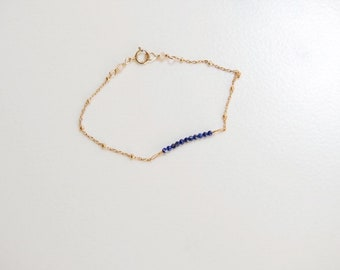 Satellite Blue Bead Strand