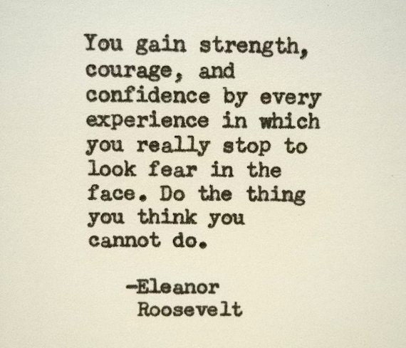 Eleanor Roosevelt Inspirational Quote Famous Quote Hand Typed Etsy