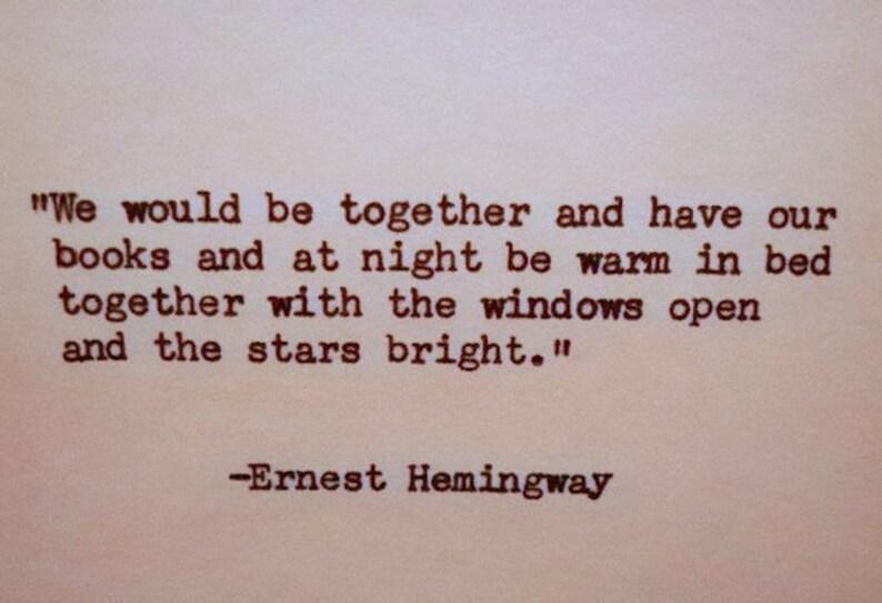 Citaten Hemingway : Ernest hemingway offerte hand getypt citaat gemaakt met etsy