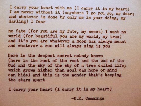 i carry your heart in my heart poem