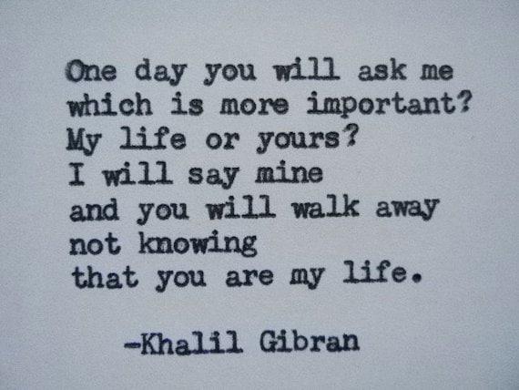 Khalil Gibran Love Poem Love Quote Khalil Gibran Quote Hand Etsy