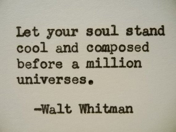 Walt Whitman Quotes Love Adorable WALT WHITMAN Quote Hand Typed Typewriter Quote Typed With Etsy