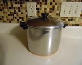 Vintage Revere Ware 1801 8 Quart Stock Pot Copper Clad Bottom Rome New York