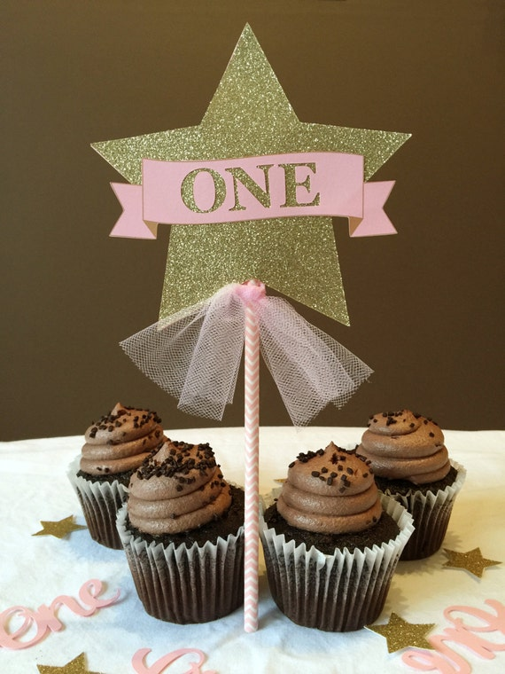Twinkle Twinkle Little Star Birthday Cake Topper Pink And Etsy