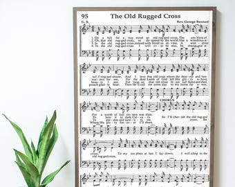 The Old Rugged Cross Sheet Music 2x3