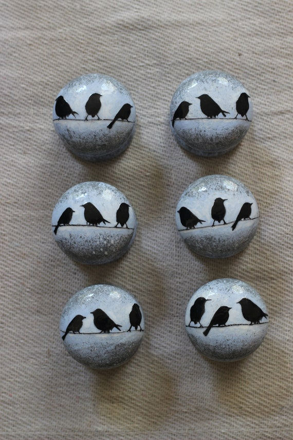 On Sale Special Listing 53 Blue and White Speckled Ceramic Cabinet Knobs Drawer Pulls