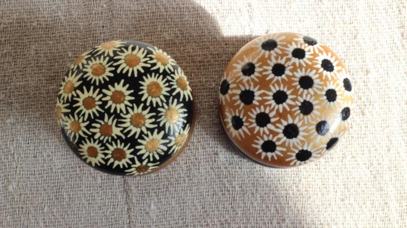 Ręcznie Malowane Dekoracyjne Gałki Pokrętła Kredens Meble Z Drewna Wyjątkowe Pokrętło Projektanta Czarny Złoto Biały Krem Wnętrza Drzwi Szafy
