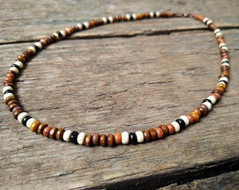 Bohemian Mens Necklace by VintageRoseGallery Mens Tribal Necklace Boho Hippie Necklace Mens Surf Necklace Mens Boho Necklace