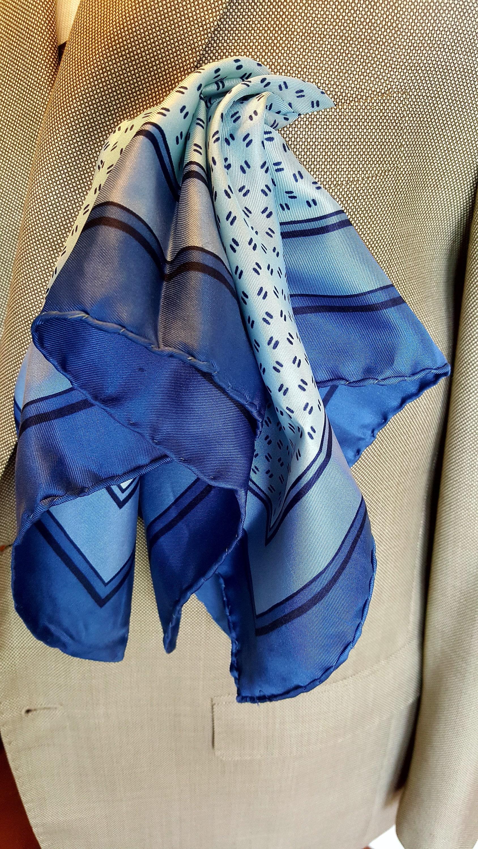 066223894d STRAWBRIDGE   CLOTHIER Silk Scarf 22 Square ITALY Shades