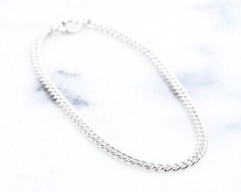Leolani bracelet - silver bracelet, chain bracelet, silver chain bracelet, layering bracelet, sterling silver bracelet, dainty bracelet