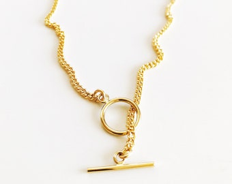 Kiana Necklace - gold necklace, gold chain necklace, pendant necklace, toggle necklace, gold filled necklace, everyday necklace, hawaii