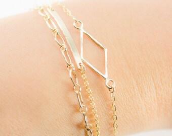 Hokuaonani bracelet - gold filled bracelet, simple gold layer bracelet, delicate layer bracelet, birthday gift, friendship bracelet, hawaii