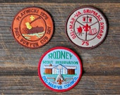 Set of Three Large Vintage Boy Scout Patches